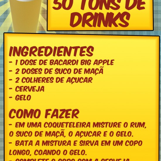 Receita allcool 50 - Como fazer o 50 tons de drink