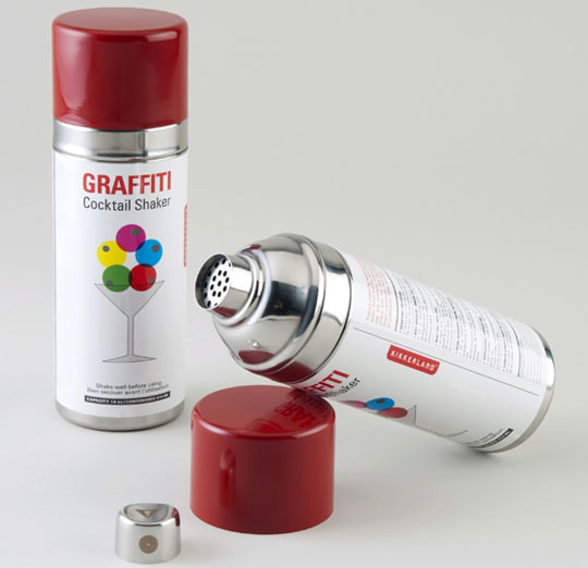 Coqueteleira em forma de lata de spray!