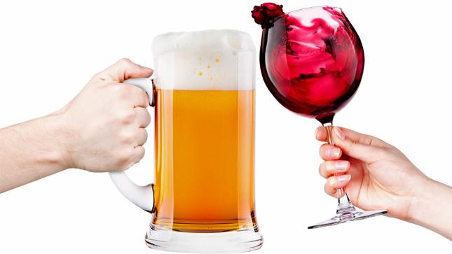 cerveja x vinho